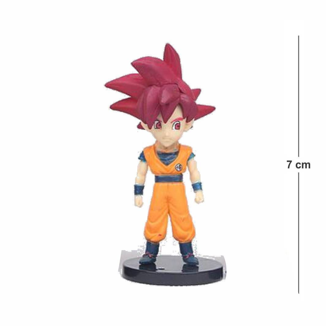 Action Figure DBZ Goku Deus 7CM PVC Base Preta