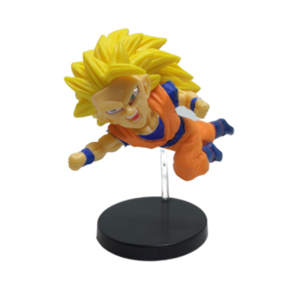 Action Figure DBZ Goku Sayajin 3 7CM PVC Base Vermelha