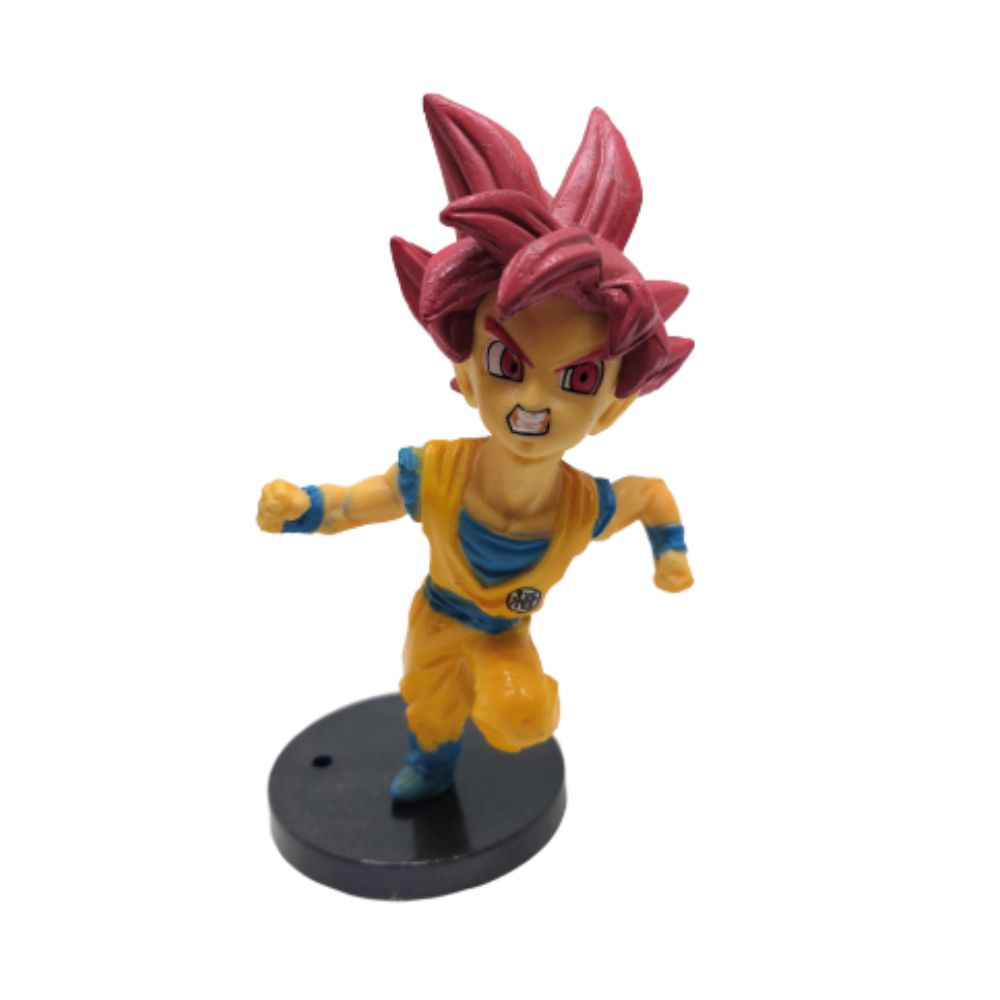 Figure Goku SSJ Deus - Dragon Ball Z DBZ - 7CM