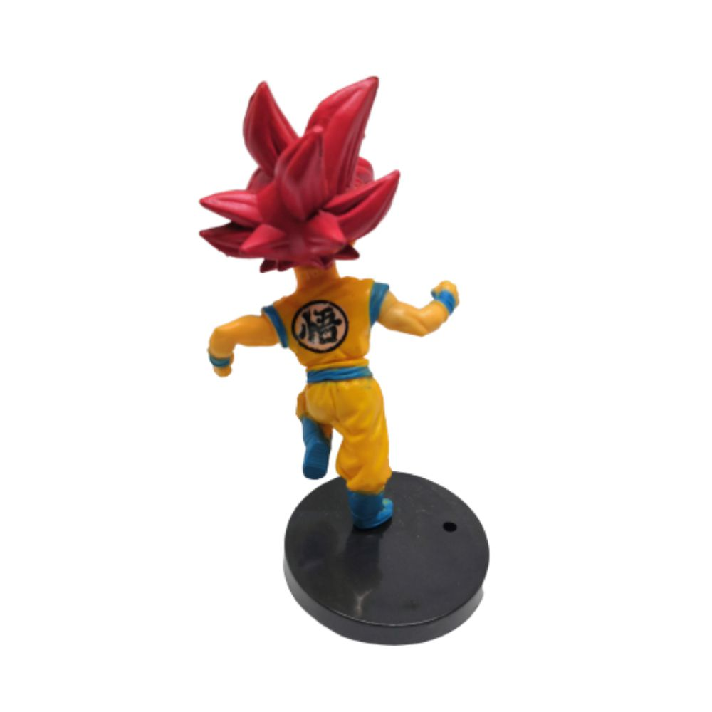Action Figure DBZ Goku SSJ Deus 7cm Base Preta