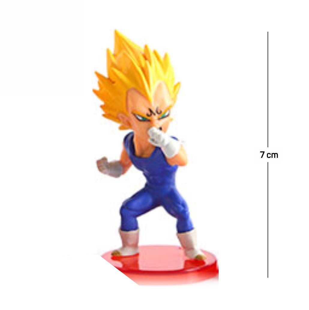 Action Figure DBZ Majin Vegeta 7CM PVC  Base Vermelha
