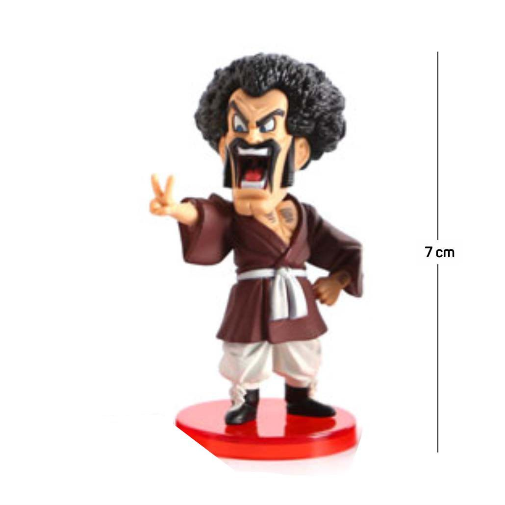 Action Figure DBZ Mr Satan 7CM PVC  Base Vermelha