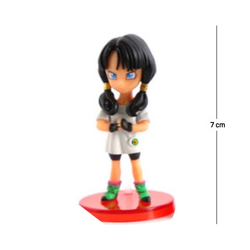 Action Figure DBZ Videl 7CM PVC Base Vermelha
