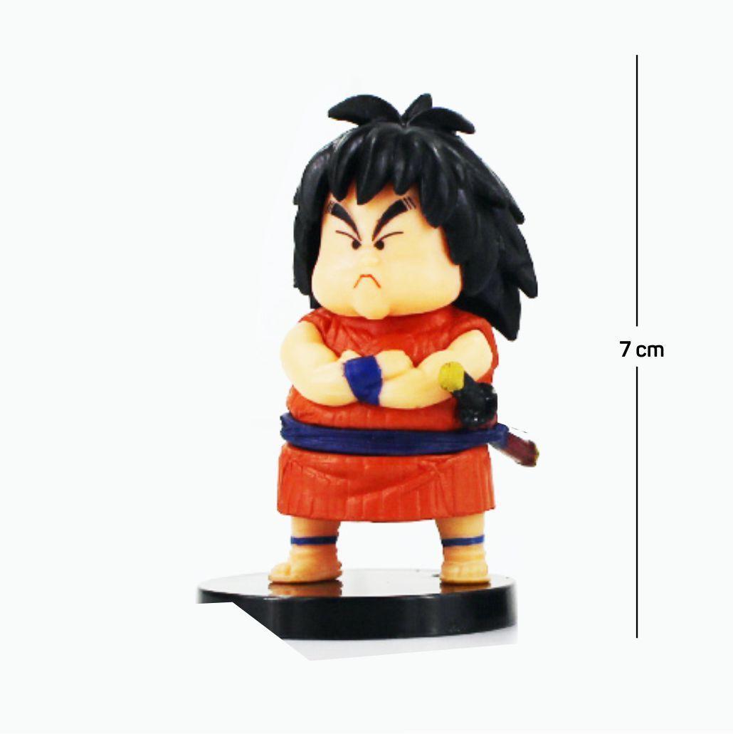 Action Figure DBZ Yajirobe 7CM PVC  Base Preta