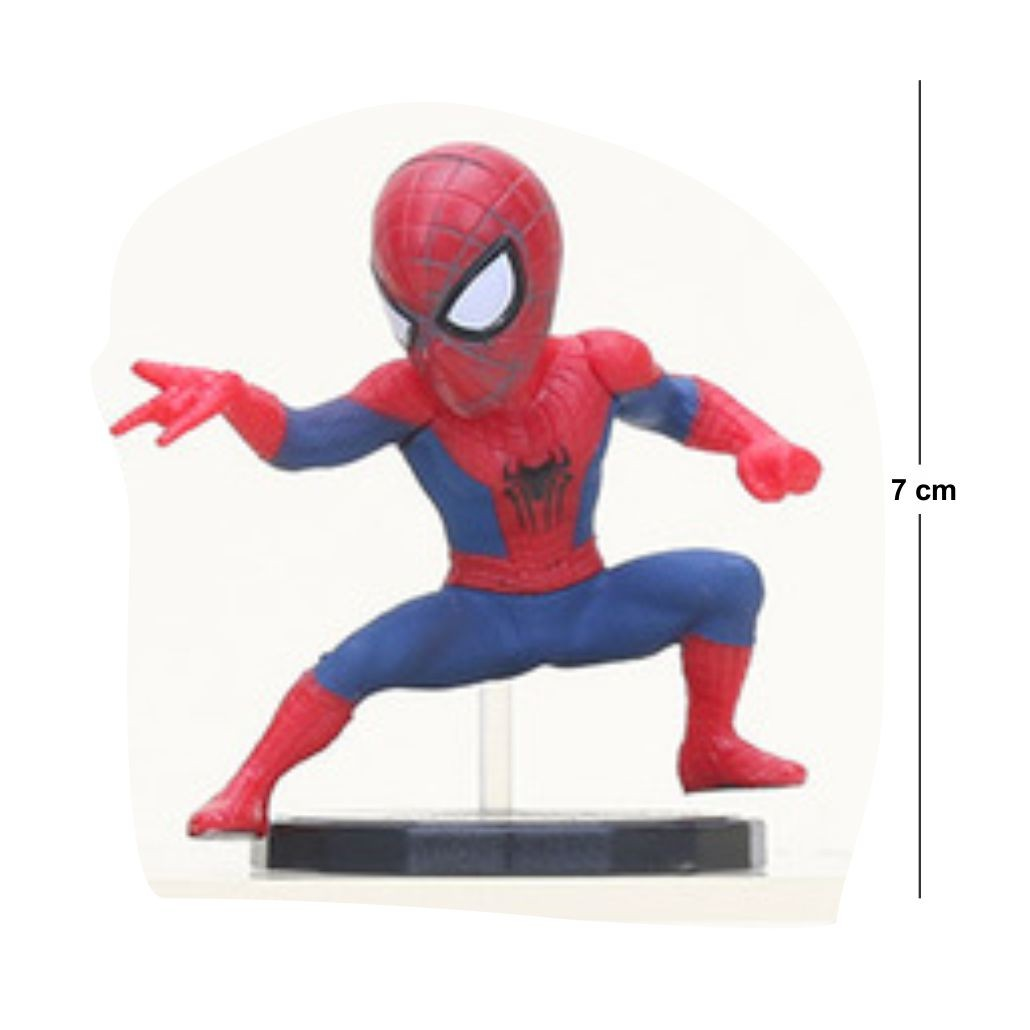 Action Figure Homem Aranha Modelo 1 7CM PVC