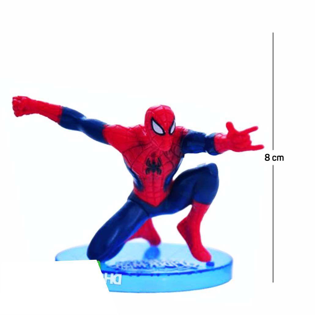 Action Figure Homem Aranha Modelo 6 8CM PVC