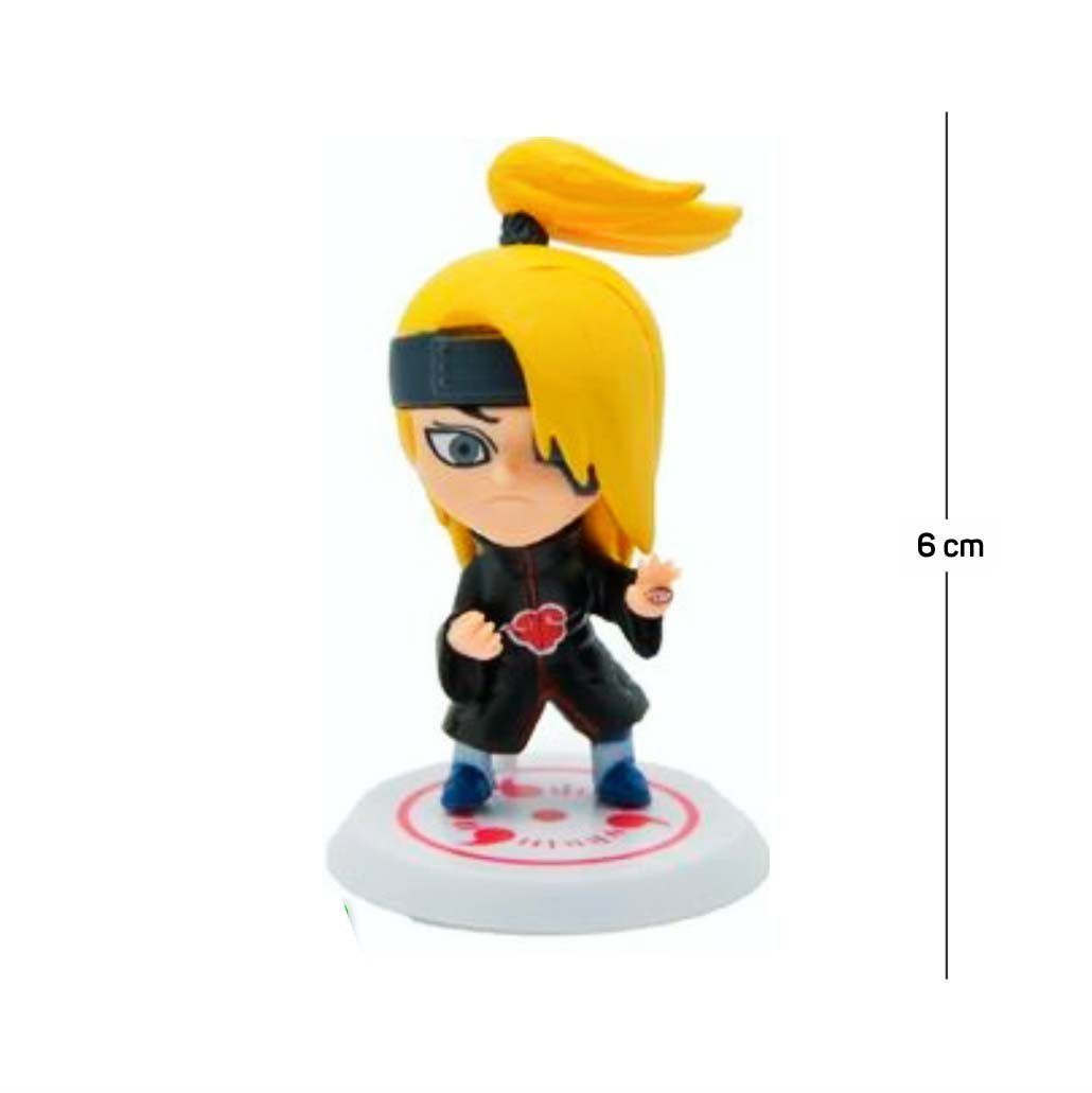 Action Figure Naruto Deidara 6CM PVC Base Branca