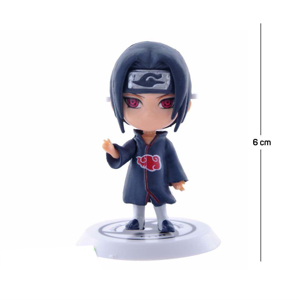 Action Figure Naruto Itachi Mangekyu Shippuden 6CM PVC