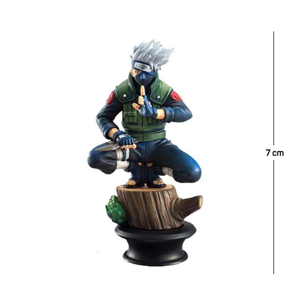 Action Figure Naruto Kakashi 7CM PVC Base Xadrez