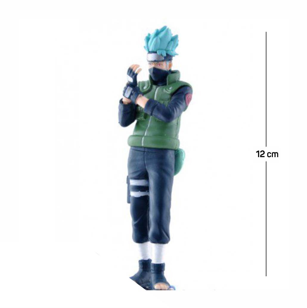 Action Figure Naruto Kakashi Shippuden 12CM PVC Base Prata