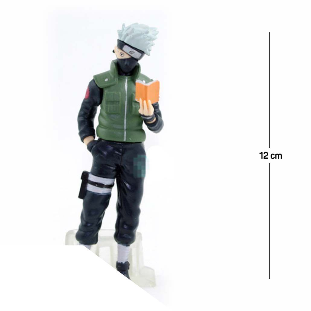 Action Figure Naruto Kakashi Shippuden 12CM PVC Base Transparente