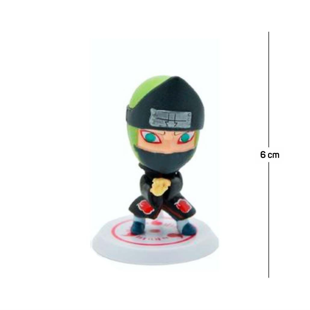 Action Figure Naruto Kakuzu 6CM PVC Base Branca