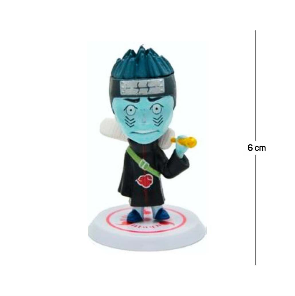 Action Figure Naruto Kisame 6CM PVC Base Branca