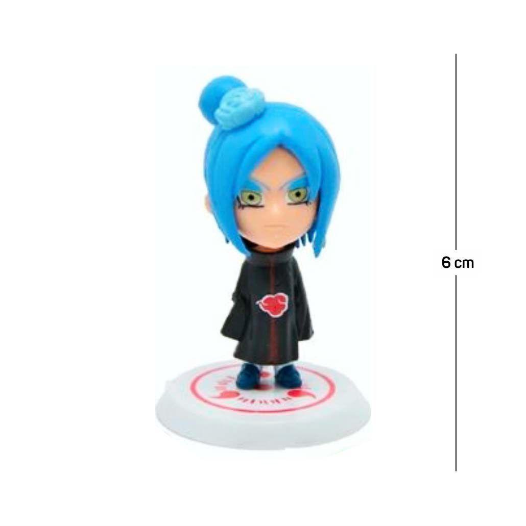Action Figure Naruto Kisame 6CM PVC Base Branca