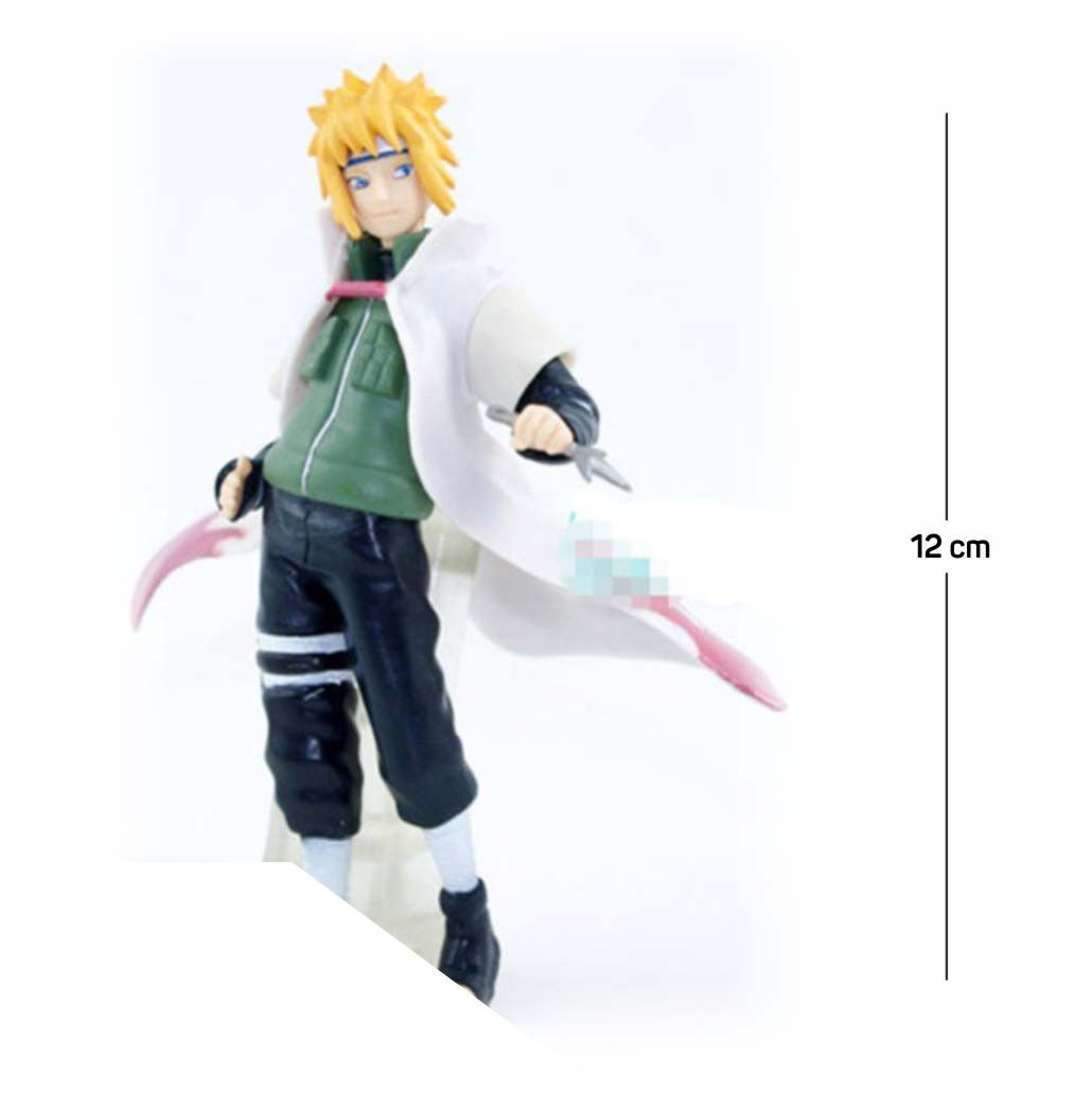 Action Figure Naruto Minato Shippuden 12CM PVC Base Transparente