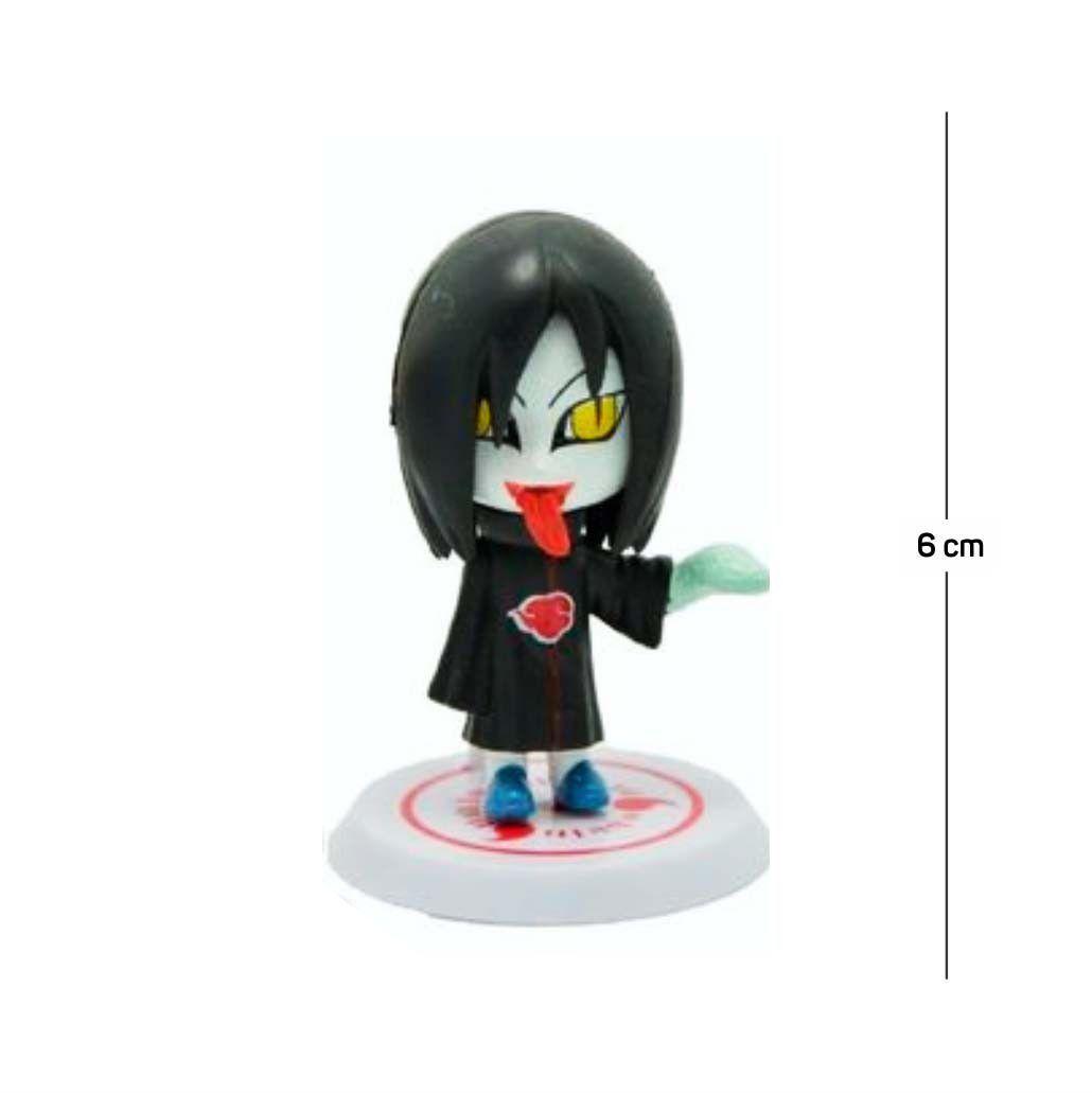Action Figure Naruto Orochimaru 6CM PVC Base Branca