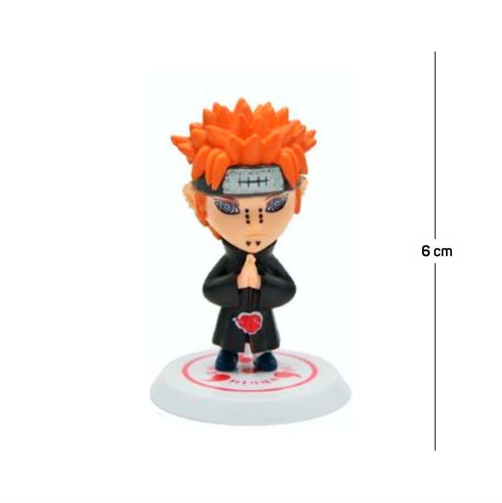 Action Figure Naruto Pain 6CM PVC Base Branca