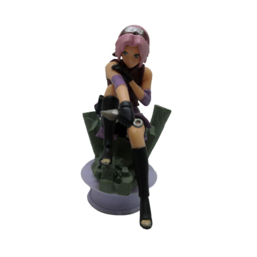 Action Figure Naruto Sakura 7CM PVC Base Xadrez