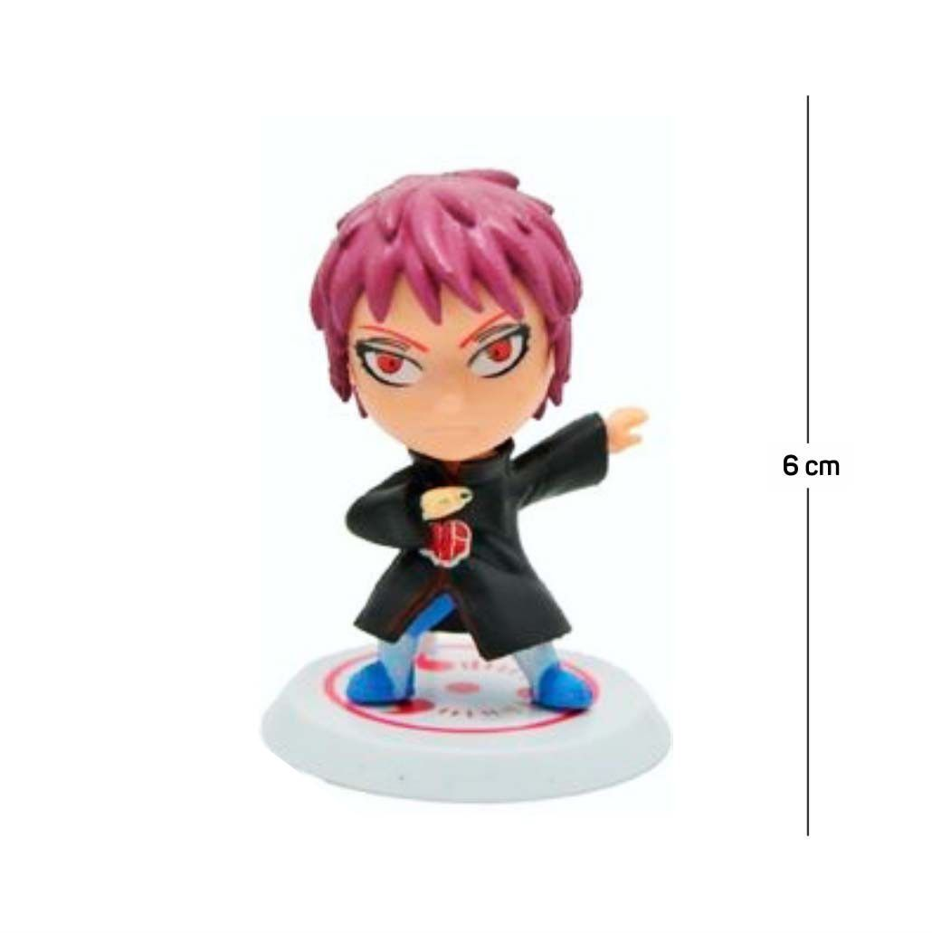 Action Figure Naruto Sasori 6CM PVC Base Branca