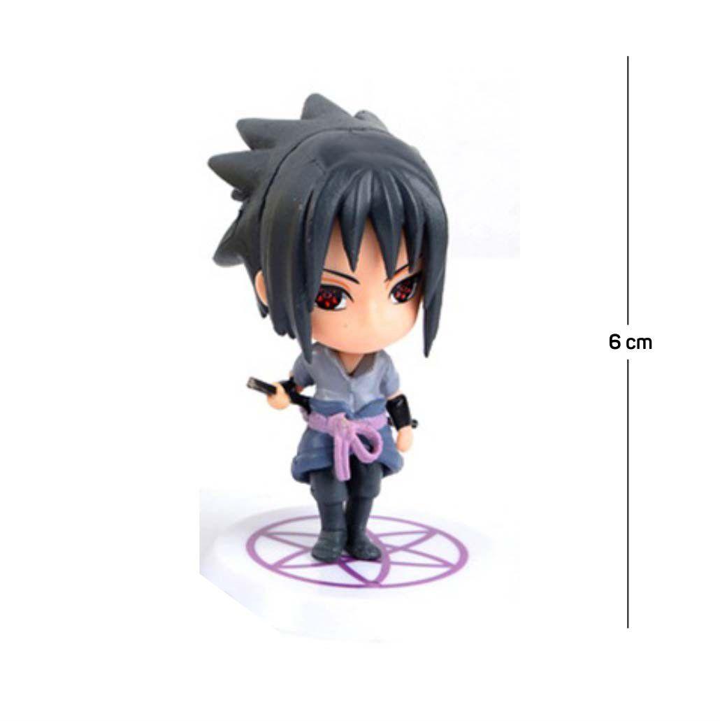 Action Figure Naruto Sasuke Shippuden 6CM PVC