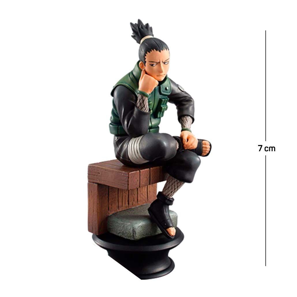 Action Figure Naruto Shikamaru 7CM PVC Base Xadrez