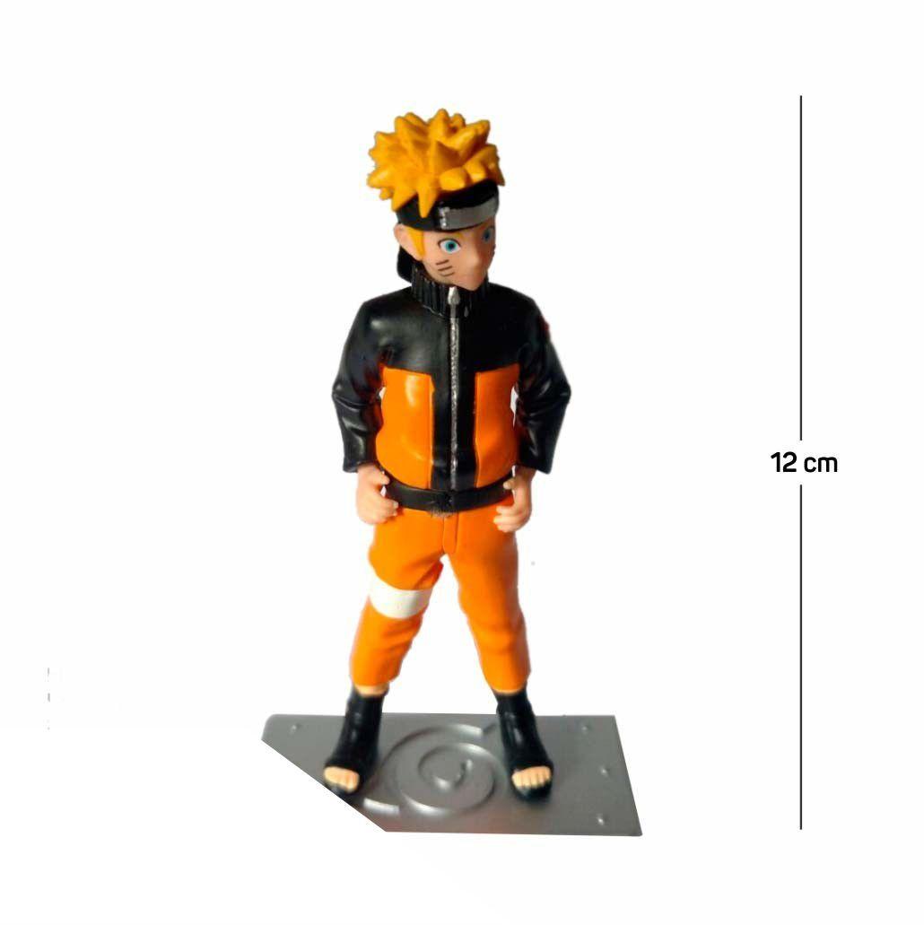 Action Figure Naruto Shippuden 12CM PVC Base Prata