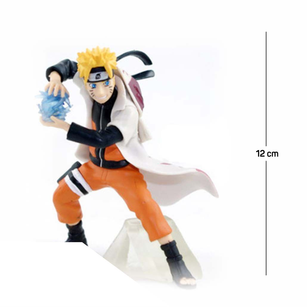 Action Figure Naruto Shippuden 12CM PVC Base Transparente