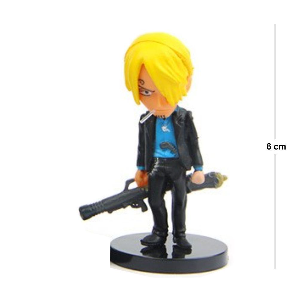Action Figure One Piece Sanji Modelo 2 6CM PVC