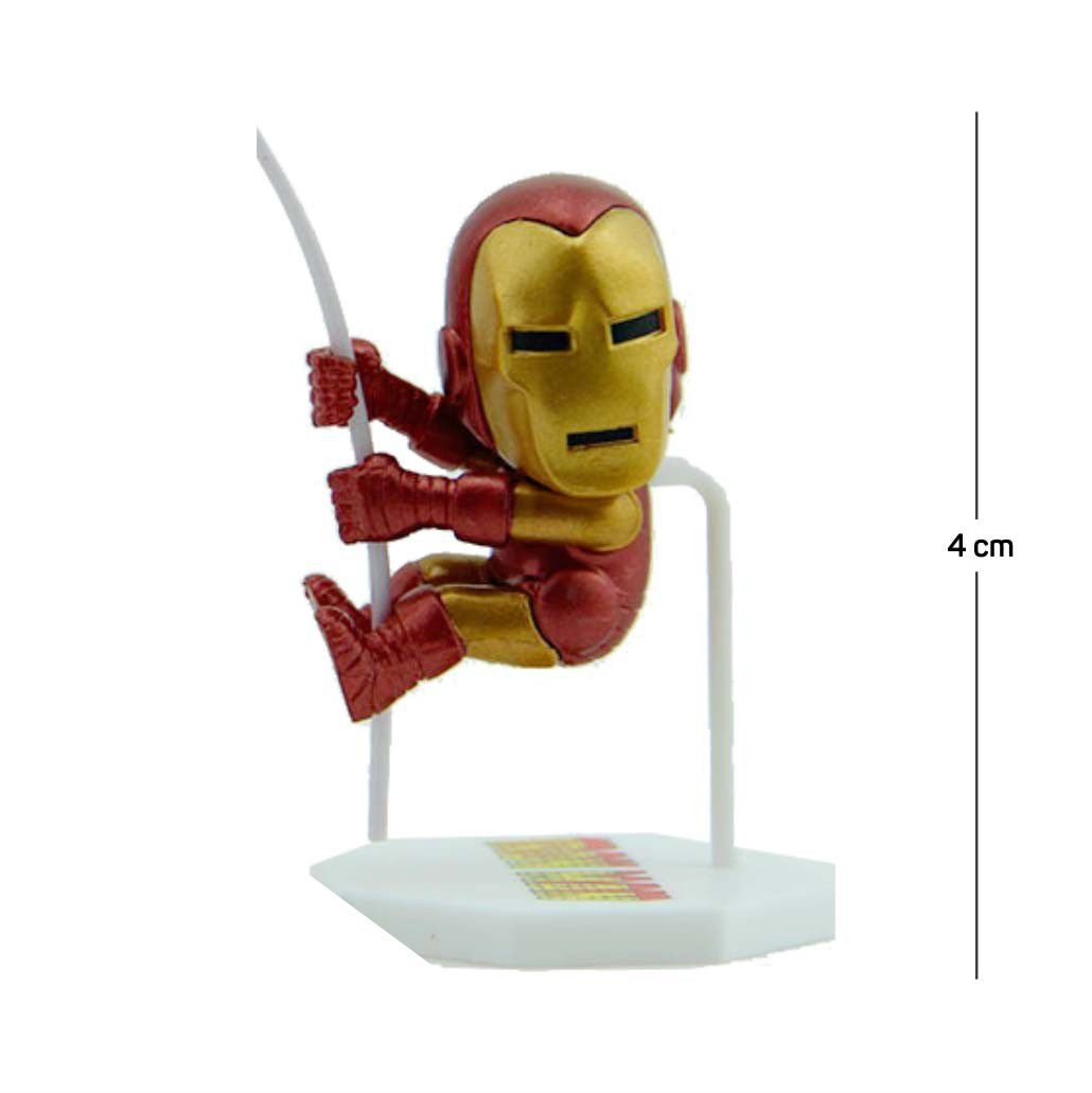 Action Figure Porta Bilhete Homem de Ferro 5CM PVC