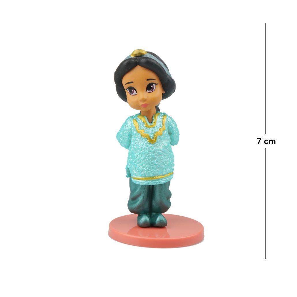 Action Figure Princesas Aladin Jasmine 7CM PVC Base Vermelha