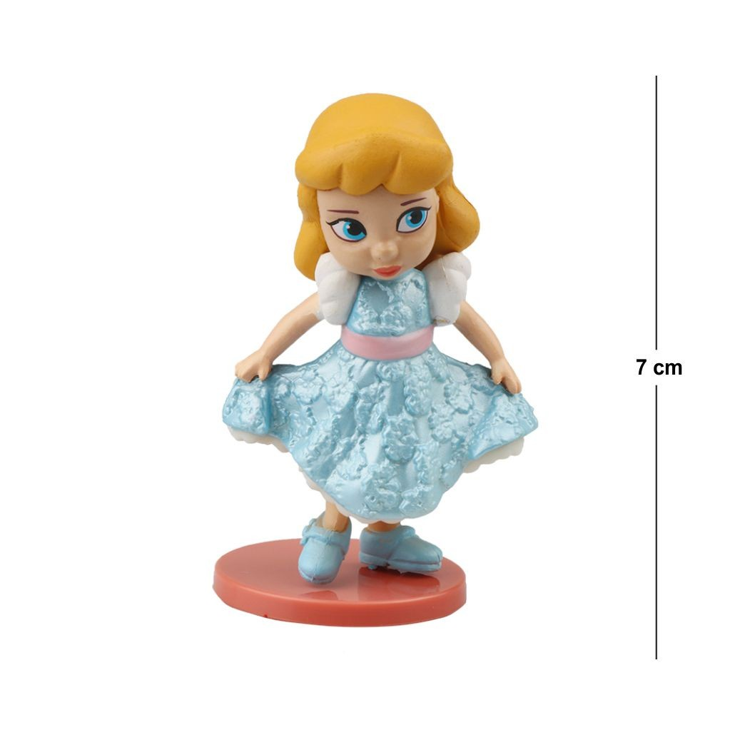 Action Figure Princesas Alice no País das Maravilhas 7CM PVC Base Vermelha
