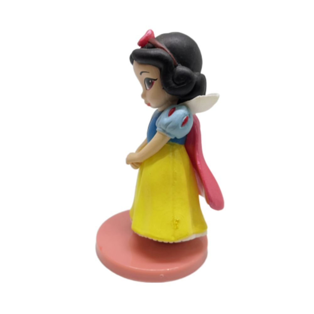 Action Figure Princesas Branca de Neve 7CM PVC Base Vermelha