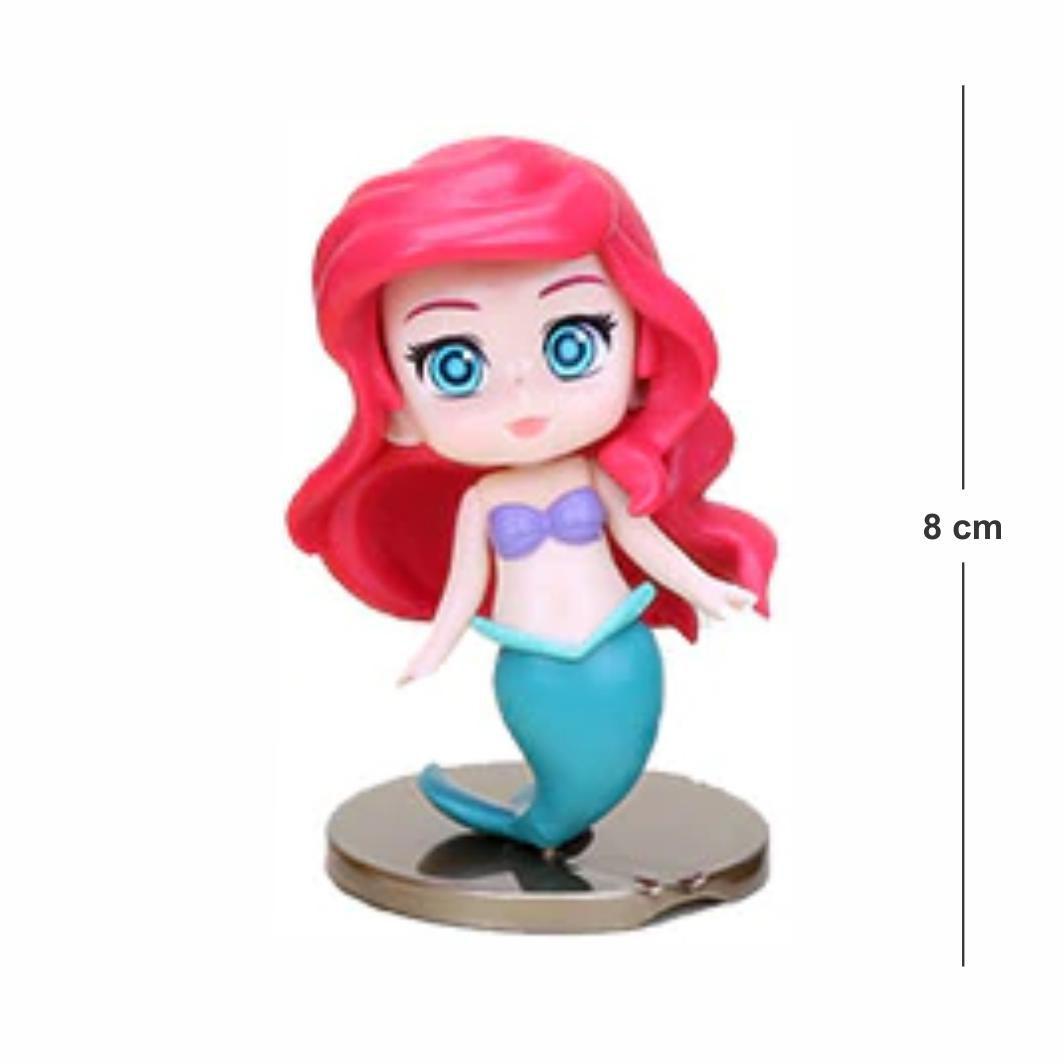 Action Figure Princesas Pequena Sereia Ariel 8CM