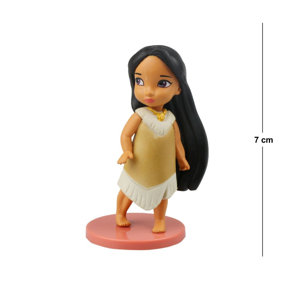 Action Figure Princesas Pochahontas 7CM PVC Base Vermelha