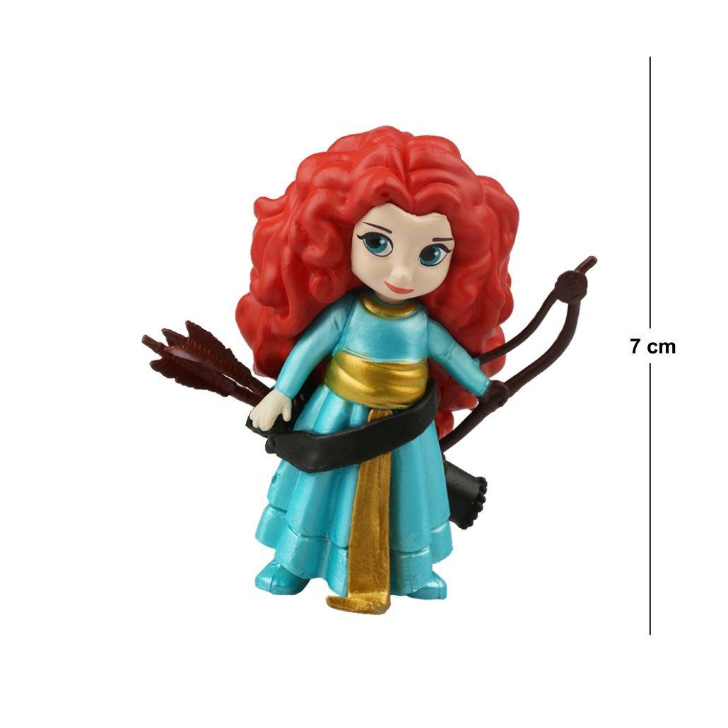 Action Figure Princesas Valente Merida 7CM PVC