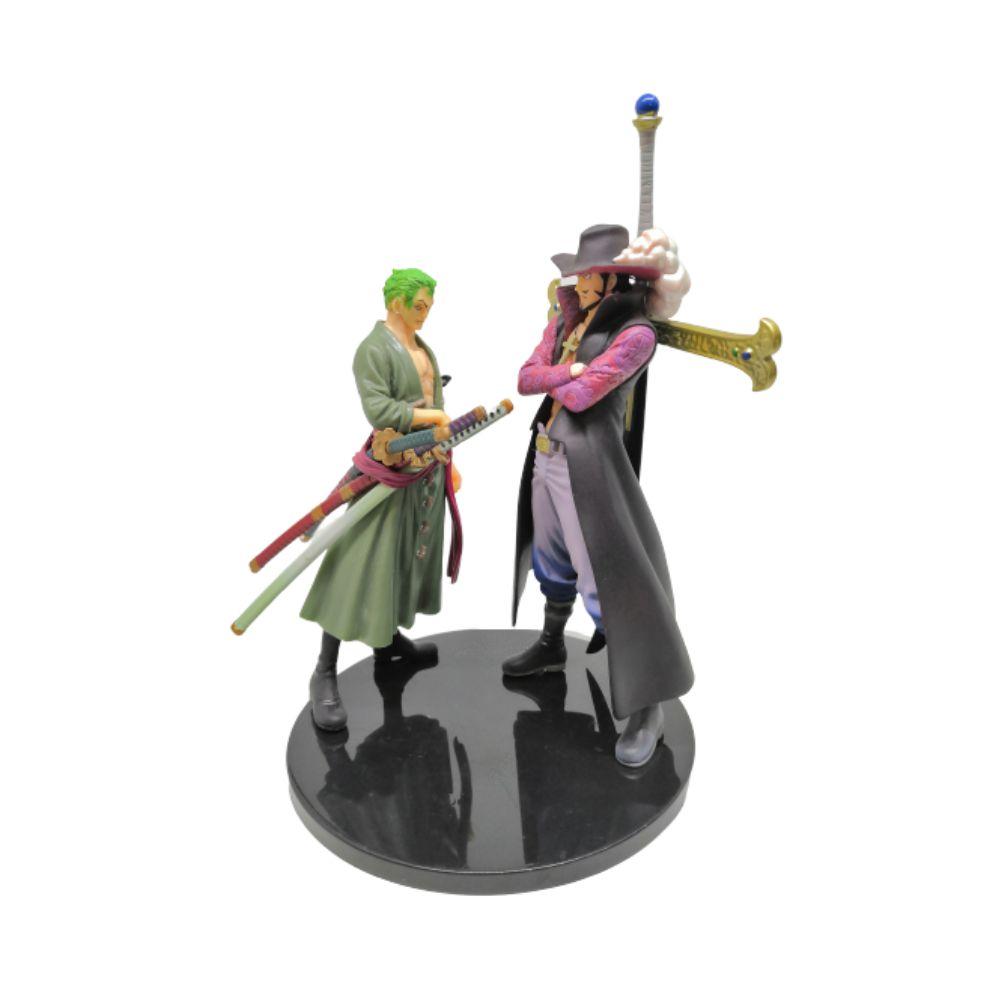 Figure Zoro e Dracule Mihawk - One Piece - 20CM