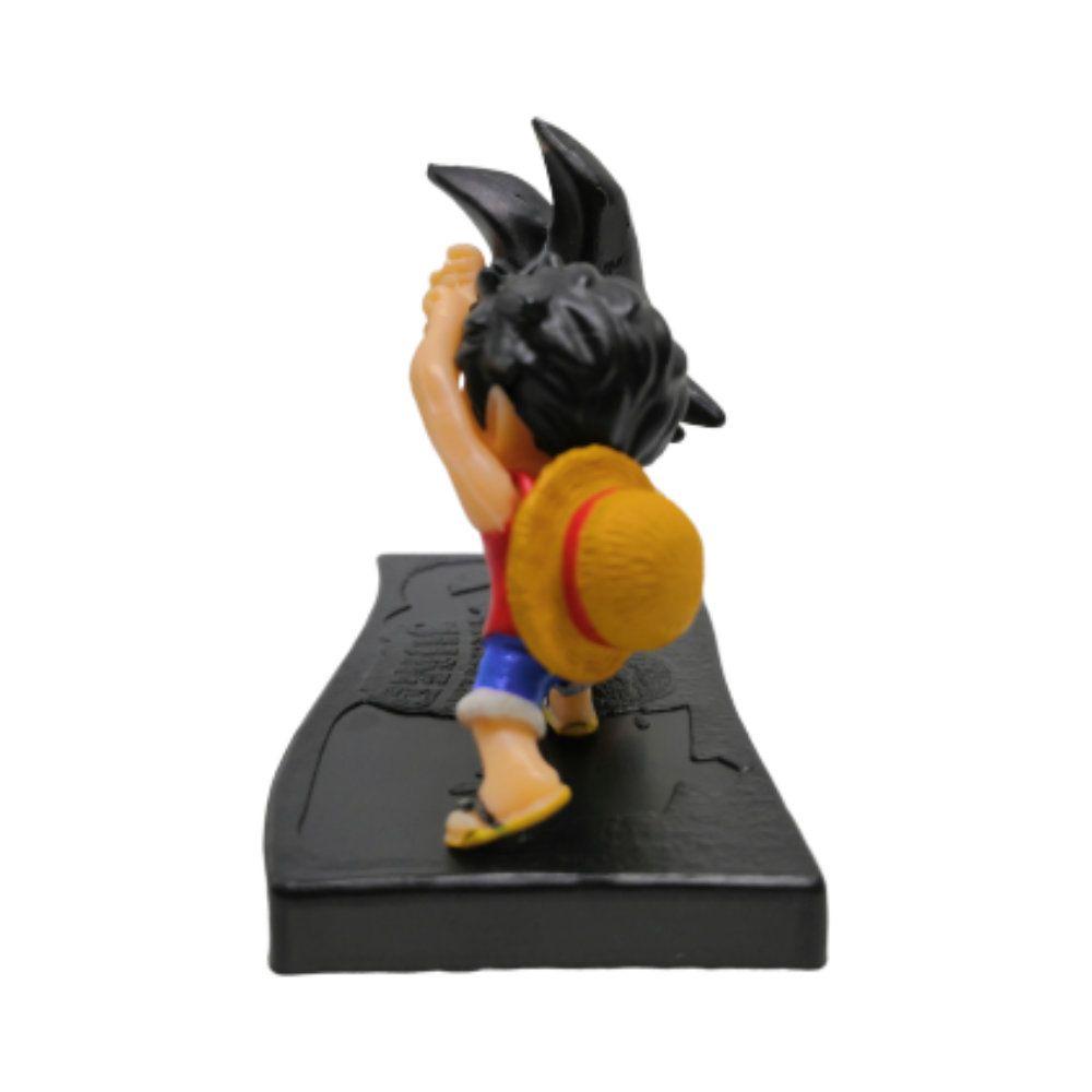 Figure Goku E Luffy Fusão - One Piece E Dragon Ball Z - 5CM