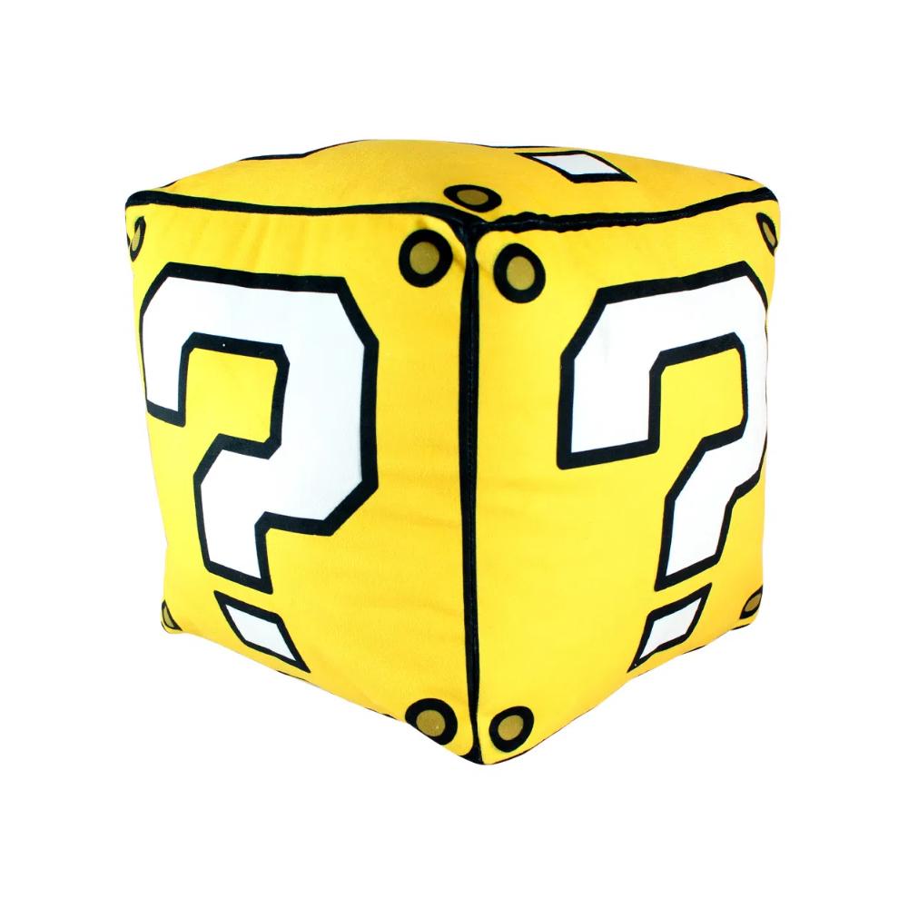 Almofada Cubo Mario Interrogação - Super Mario - 26X26