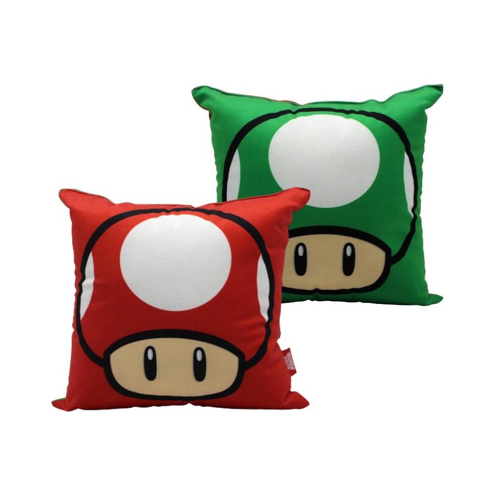 Almofada Cogumelos Mario - Super Mario - 25X25