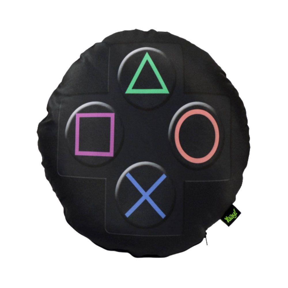 Almofada Redonda Botões PlayStation - Sony - 40X40