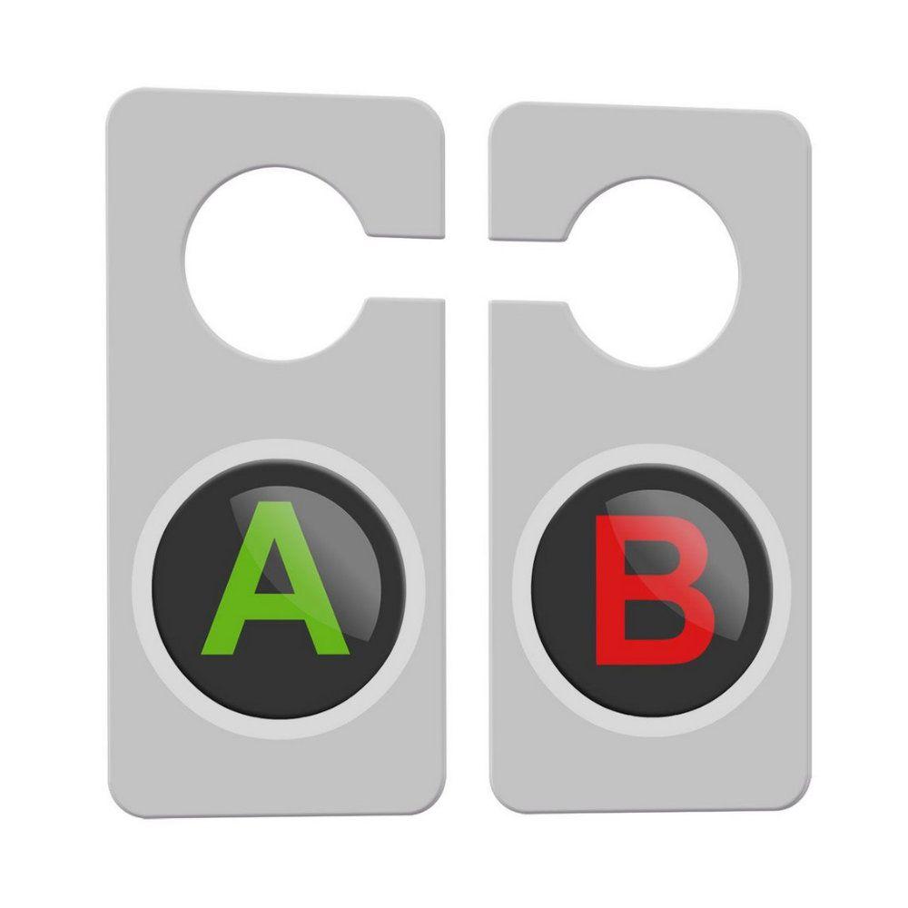 Aviso de Porta Gamer Botões A e B - 15X8
