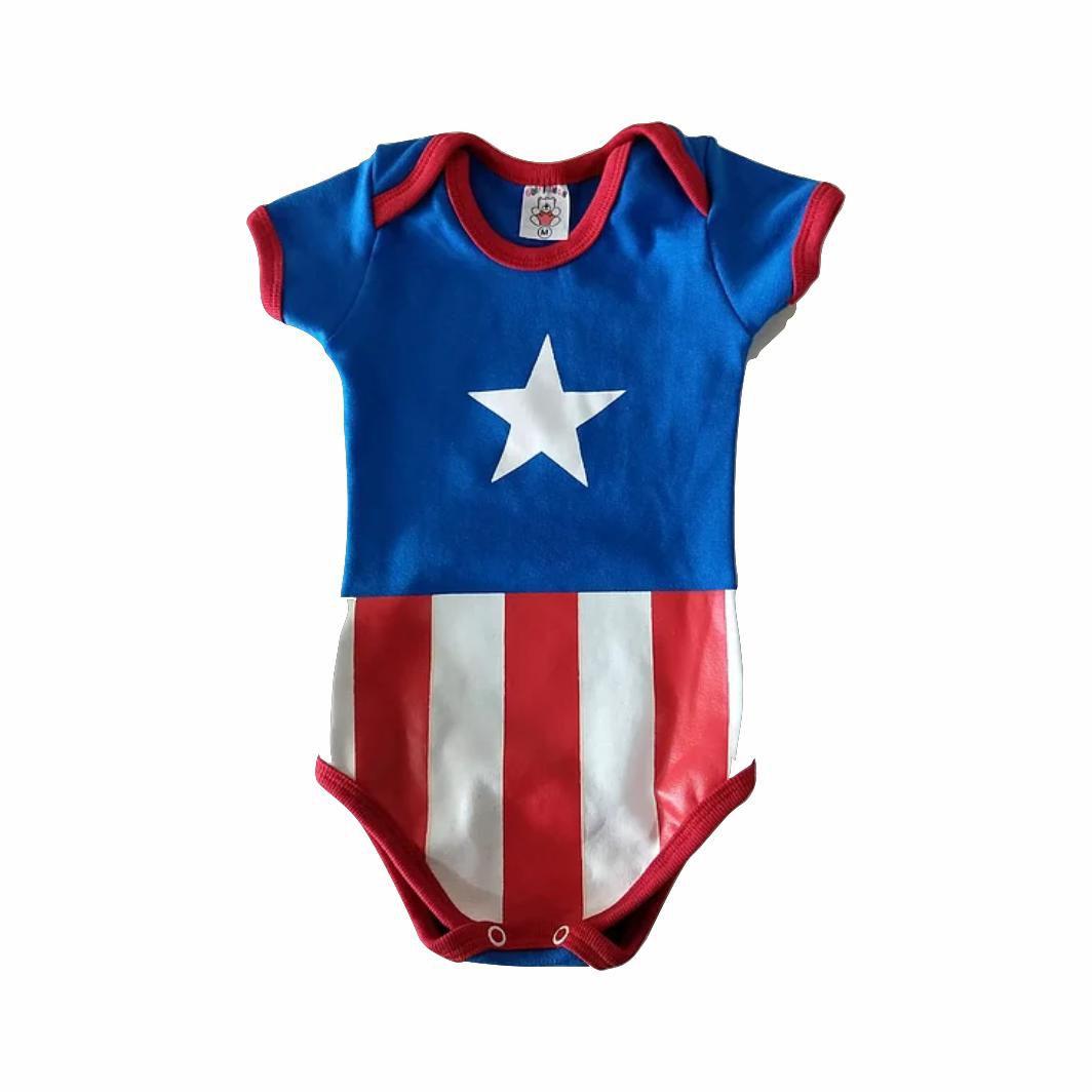 Body Infantil Capitão América - Marvel - G