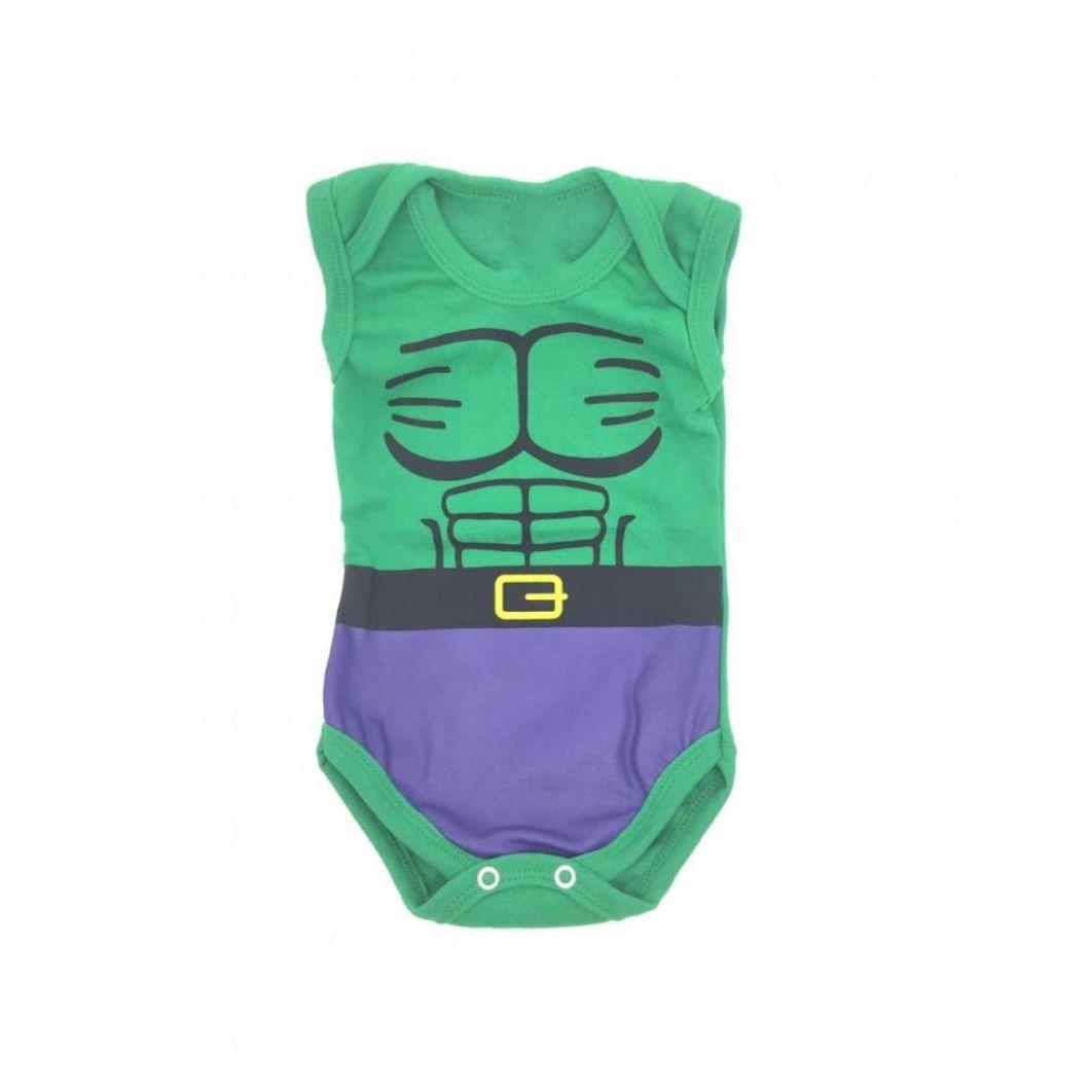 Body Infantil Hulk - Vingadore Marvel - G