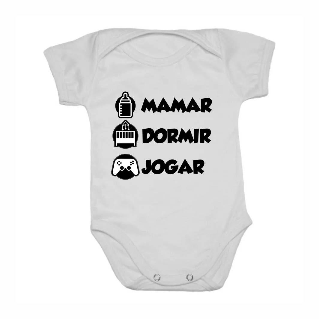 Body Infantil Mamar, Dormir, Jogar - G