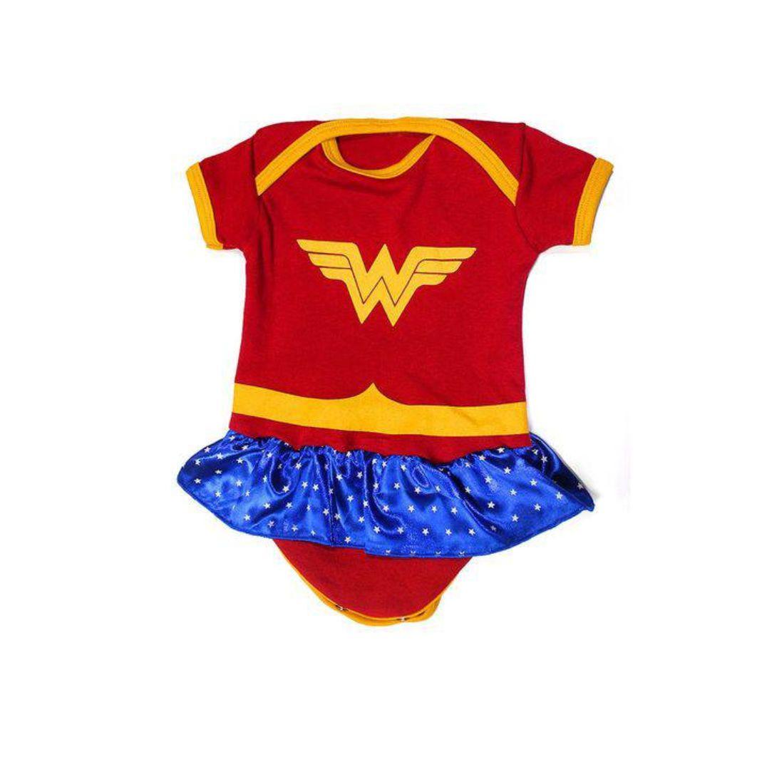 Body Infantil Mulher Maravilha - DC - M