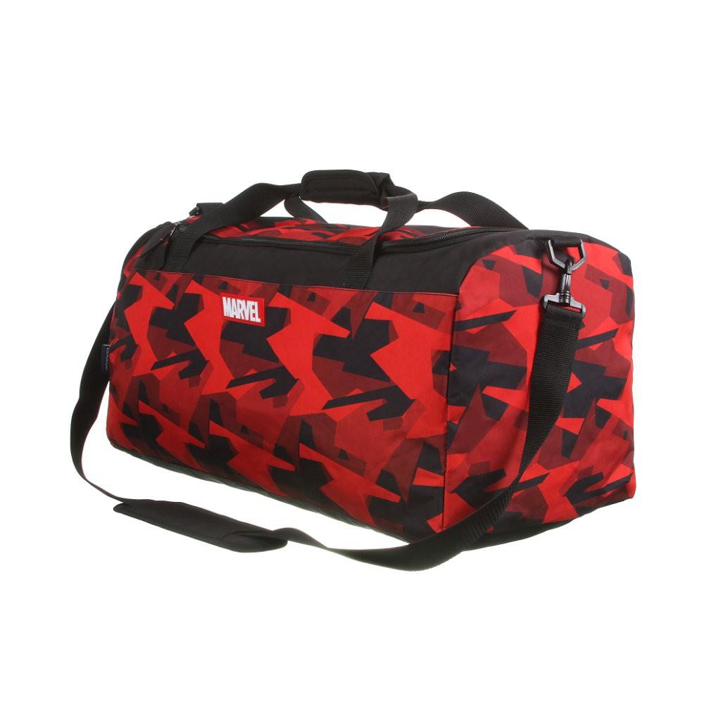 Bolsa Sacola Esportiva Marvel - Vermelha e Preta - Poliéster