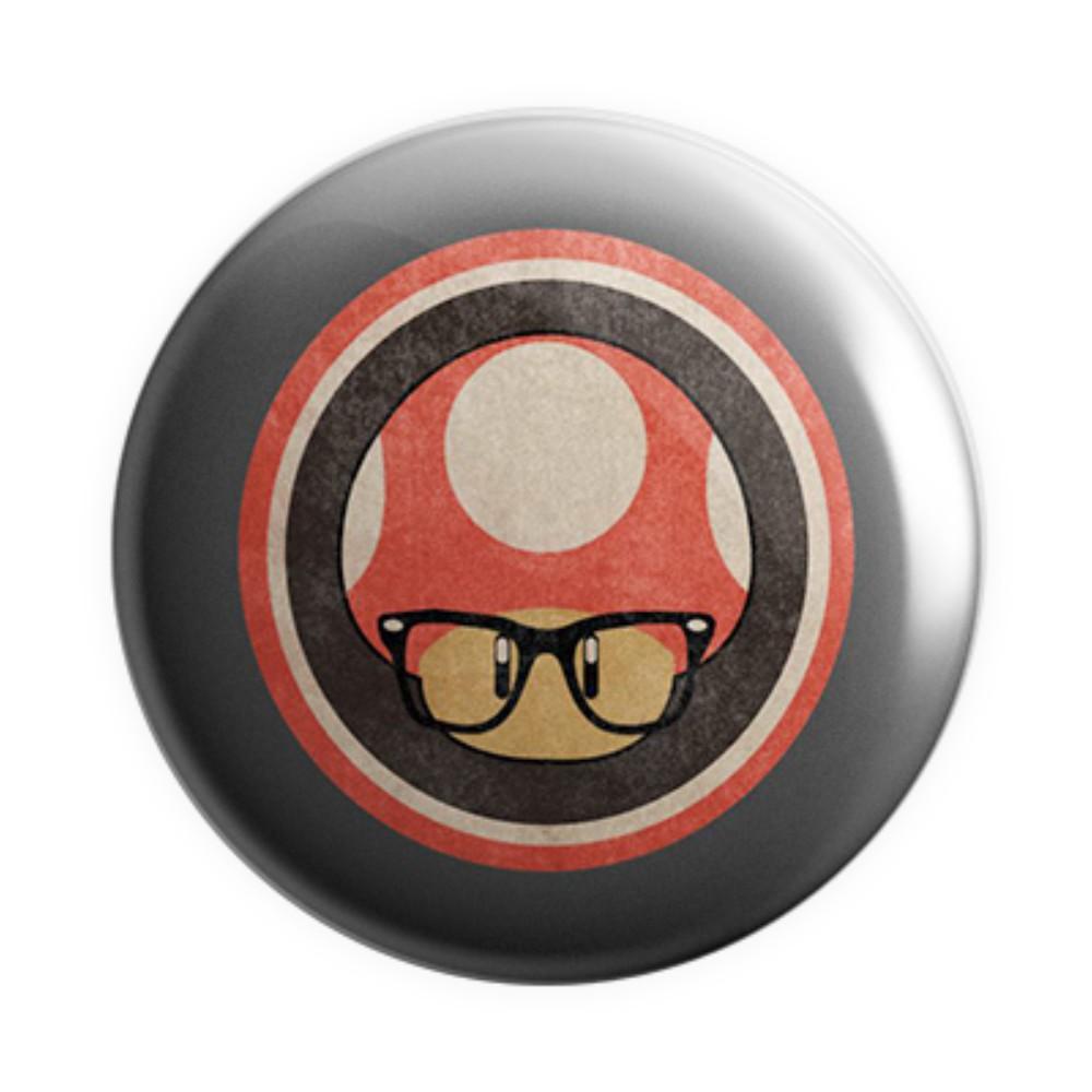 Botton Cogumelo Geek - Super Mario - 6X6