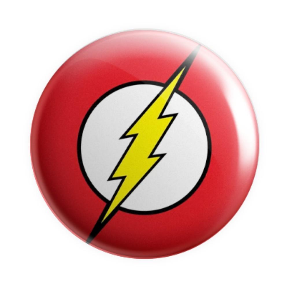 Botton Logo Flash - DC - 6X6