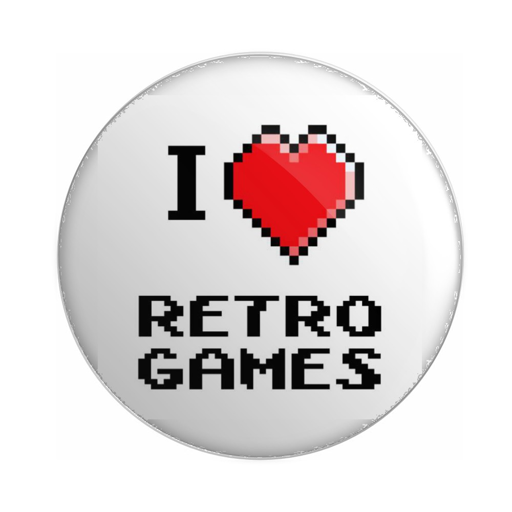 Botton I Love Retro Games - 6X6