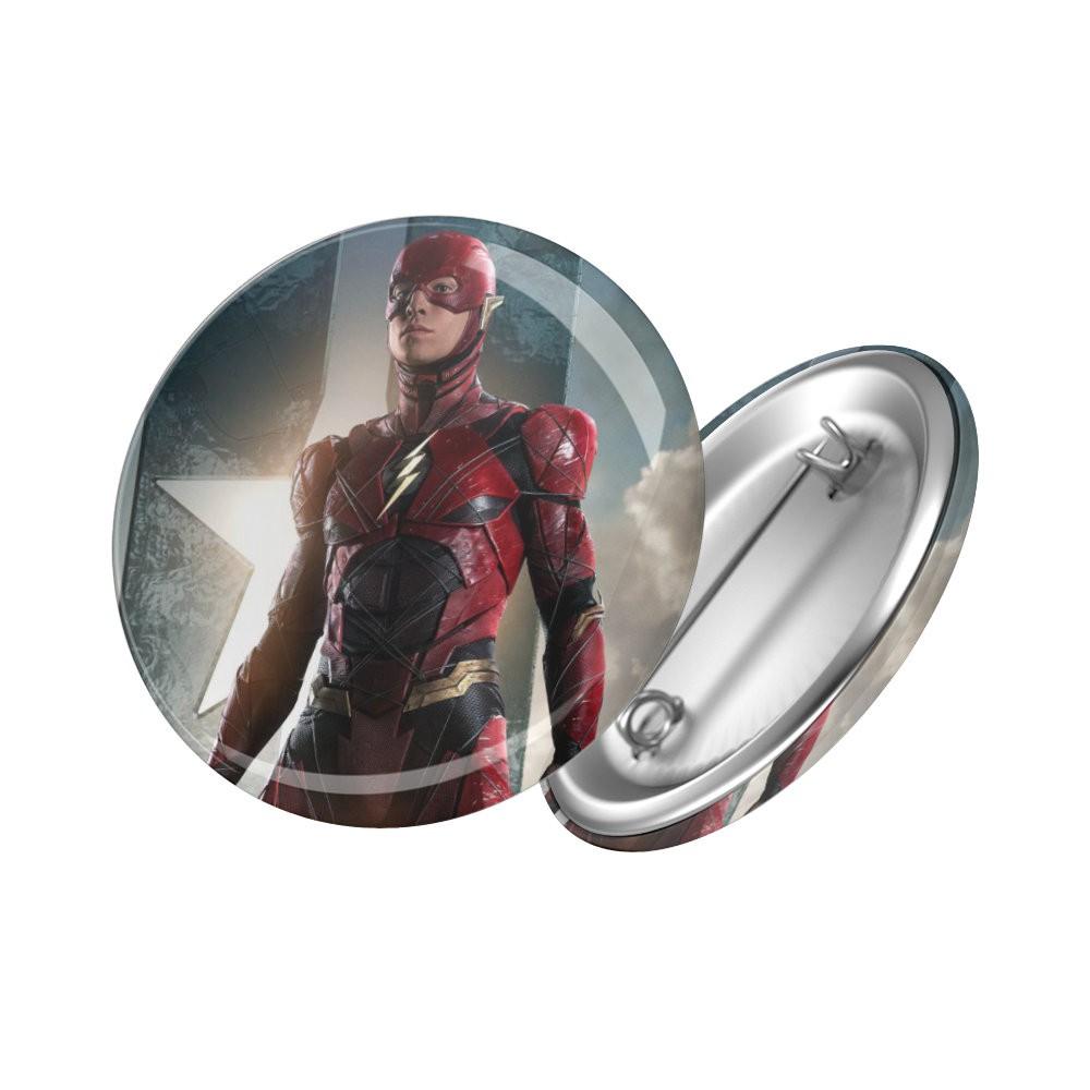 Botton Flash - Liga da Justiça - 6X6